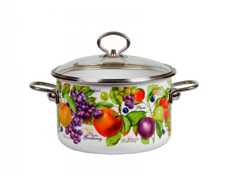 Pan VITROSS, Confitura, 3 L, with glass cover pan vitross fruits 3 l with glass cover