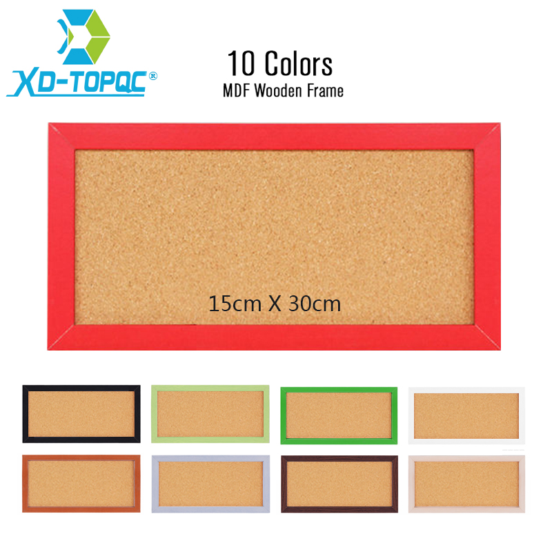 XINDI New 15*30cm MDF Frame Small Notice Bulletin Cork Board Home Decorative Memo Message Pin Board Cork Free Shipping free shipping xindi 5 colors mdf frame bulletin cork board 30 40cm memo photos pin board cork message boards for notes