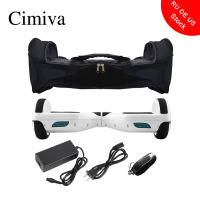 Cimiva 6.5 inch Smart Self Balancing Scooter 2 Wheels Electric Hoverboard Balance Skateboard Overboard with Bag and Lock