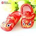 Mopopo Пекин Обувь Ручной Работы 2017 Baby Girl Обувь Впервые Уокер Китайский Стиль Новорожденных Обувь Сапоги Детская Обувь Девушки 1 Год