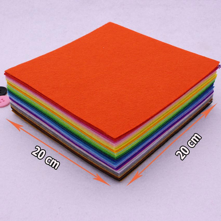 ᗖ40 colores/Lot 20 cm x 20 cm Fieltro Telas, poliéster, no tejido ...