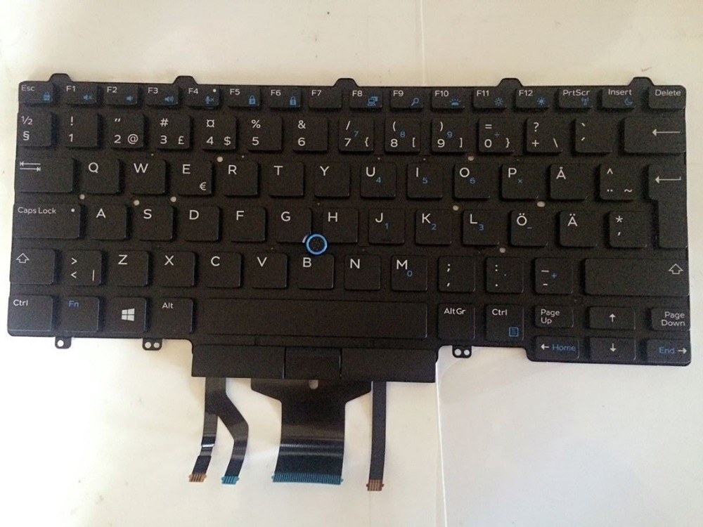 New Laptop keyboard for Dell Latitude 14 E5450 5470 E7450 E7470 QWERTY backlist SD/Sweden layout brand new us keyboard for dell latitude e5450 e7450 laptop keyboard without frame laptop