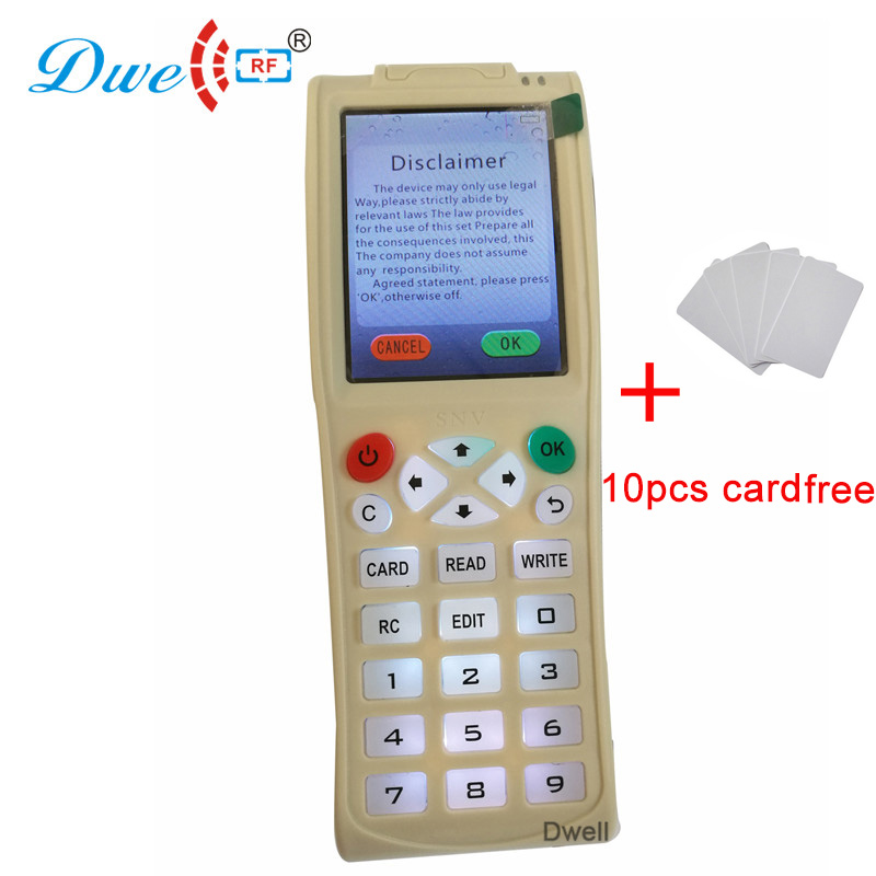 DWE CC RF access control rfid card copy tool Australia 125khz and 13.56mhz tag duplicator dwe cc rf 2017 hot sell 13 56mhz 12v wg 26 rfid outdoor tag reader for security access control system