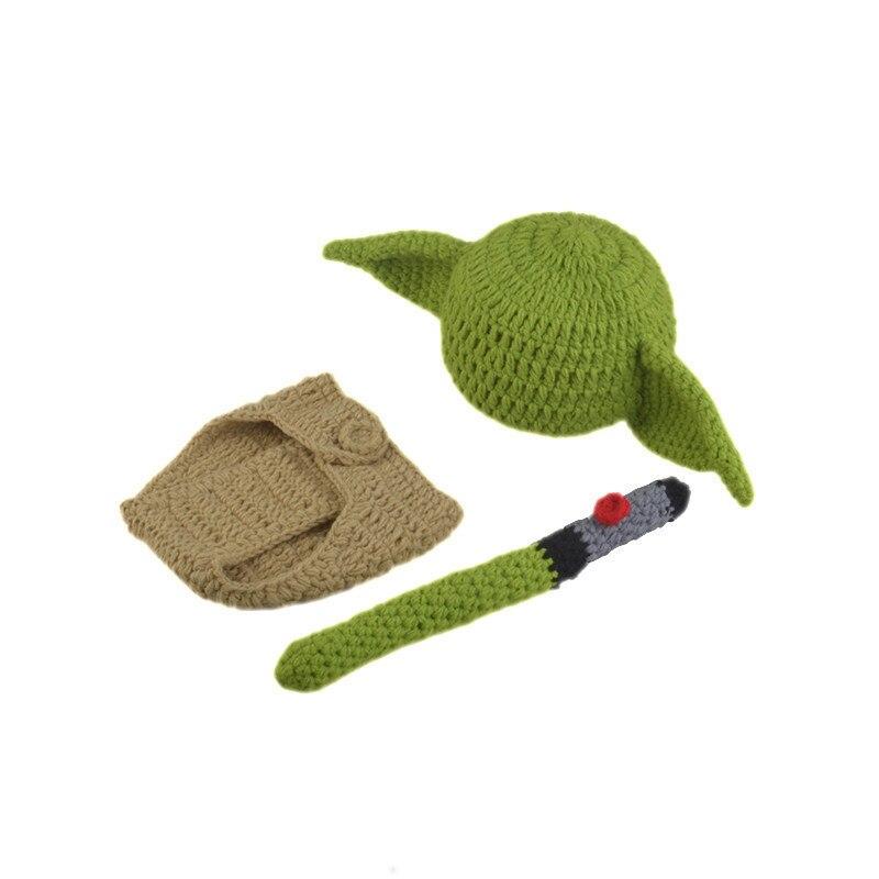Hot Crochet bebé Yoda sombrero Beanie recién nacido Boy Cartoon ...