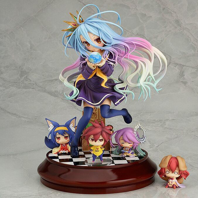 newest Japan No Game No Life Imanity Shiro 1/7 Scale Painted PVC anime cartoon doll Figure Collectible Model Toy T5673