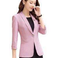2018 New Blazer And Jacket Slim Business Formal Work Wear Three Quarter Sleeve Office Lady Style Coat