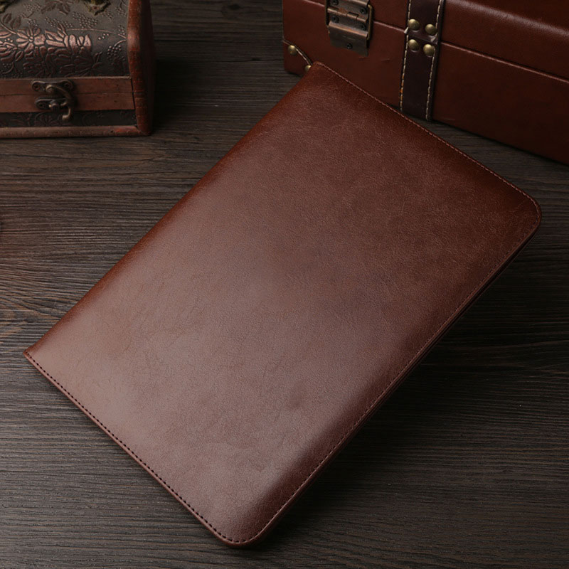 Coffee Leather retro style smart portfolio case for iPad 2018 9.7 inch (A1893, A1954)