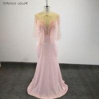 Сексуальное длинное свадебное платье с глубоким вырезом, прозрачные блестящие бусины, платья подружки невесты, розовое Настоящее фото, кар