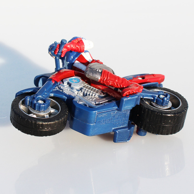 Captain America In Motorcycle Toy