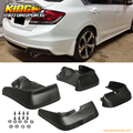 Ajuste para 12-14 2012 2013 2014 honda civic 4dr sedan oe estilo mud flap guardia 4 pcs-pu