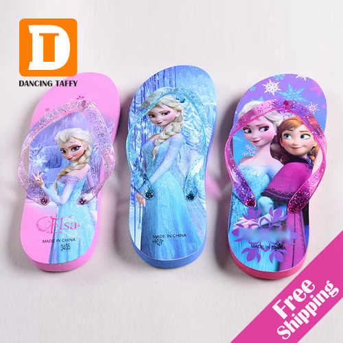 Nieuwe Zomer Cartoon kinderen Slippers Fashion Kids Slippers Pantufas Thuis Slippers Meisjes Strand Schoen Sandalen Voor Meisjes Size24-35