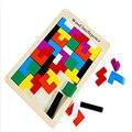 Quebra-cabeças Tangram de madeira Cérebro Teaser de Puzzle Brinquedos Tetris Game Preschool Magination Intelectual Educacional Kid Brinquedos Para Crianças