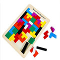 Wooden Puzzles Tangram Brain Teaser Puzzle Toys Tetris Game Preschool Magination Intellectual Educational Kid Toys For Children