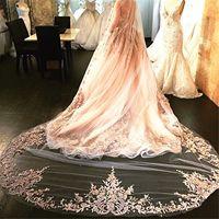 Bridal Veil White/Ivory 3m Long Wedding Veil Mantilla Wedding Accessories velos de novia cathedral veil 9081
