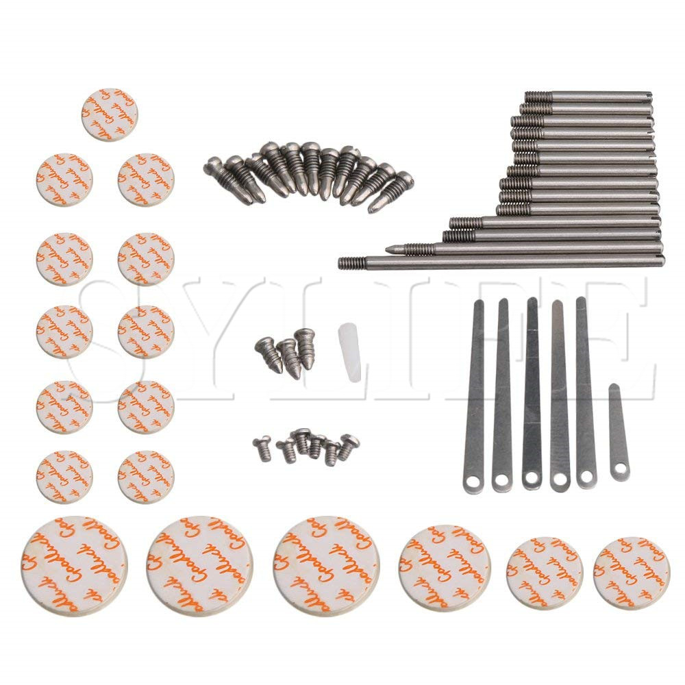 Clarinet Repair Tool Set Maintenance Parts Spring Leaf Sound Hole Pads Spindle Screws Instrument DIY Accessories Type B