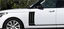New!! Silver Black ABS Car Side Door Air Vent Kit Cover Trim For Range Rover Vogue 2014-2017 Set of 2pcs Car Styling