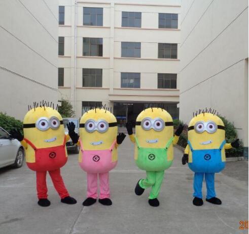 Hot Sale Professional Minions Mascot Costume Adult Size Minon Mascot