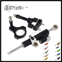 Motorcycle Steering Damper Stabilizer & Bracket For YAMAHA YZFR3 YZF R3 YZF R3 2013 2014 2015 13 14 15