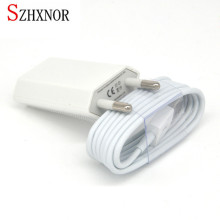 SZHXNOR usb AC wall charger + 1m 8 pin to usb data charging charger cable for iphone X 7 5 5s 5c 6 6s 8 plus SE ios 10 11