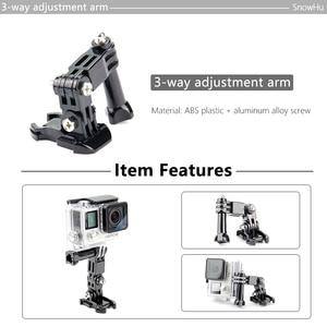 Image 2 - SnowHu sıcak satış fotoğraf aksesuarları Andoer üç yönlü ayarlanabilir Pivot kol Gopro Hero 9 8 7 6 5 4 için SJ4000 kamera GP15