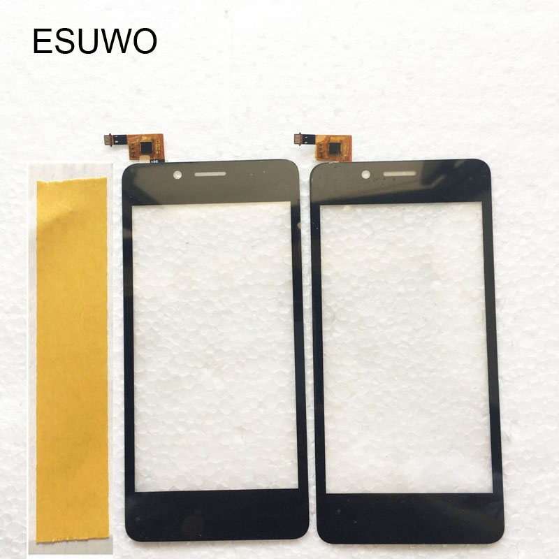 ESUWO Black Touch Panel For Fly fs458 stratus 7 Touch Screen Sensor Digitizer Front Glass Lens Touchscreen