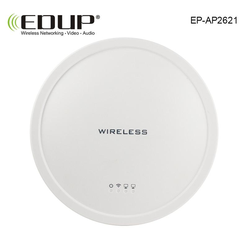 EDUP High Power 300 Mbps 2,4 ghz Drahtlose Decke AP Access Point Innen Breite abdeckung 2 * 5dbi antennen AR9341 + SiGe2576L chipset