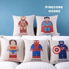 1012 Сталь Superman Spiderman Batman Капитан Америка Lego автомобиля Чехлы диванную подушку белье пакет продвижение