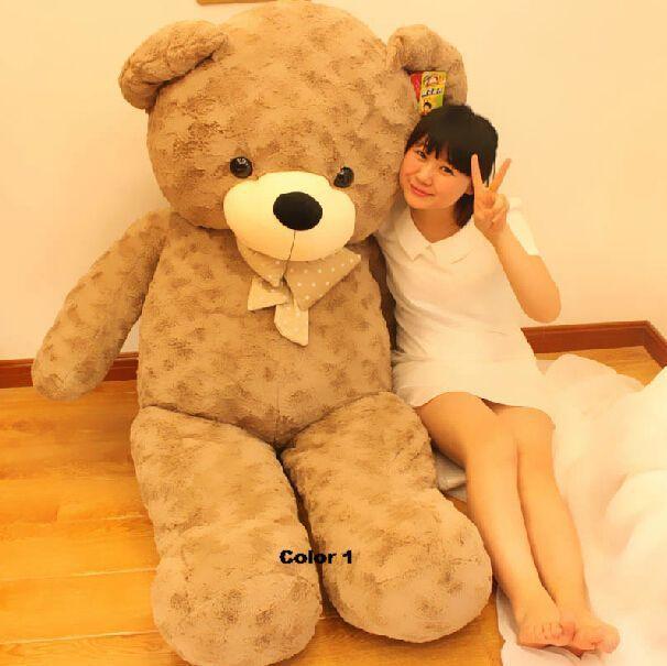 Fancytrader Милый Плюшевый Медведь Игрушки 67 ''170 см ДЖАМБО Огромный Гигантские Плюшевые Teddy Bear, 3 Имеющихся Цветов, бесплатная Доставка FT90345