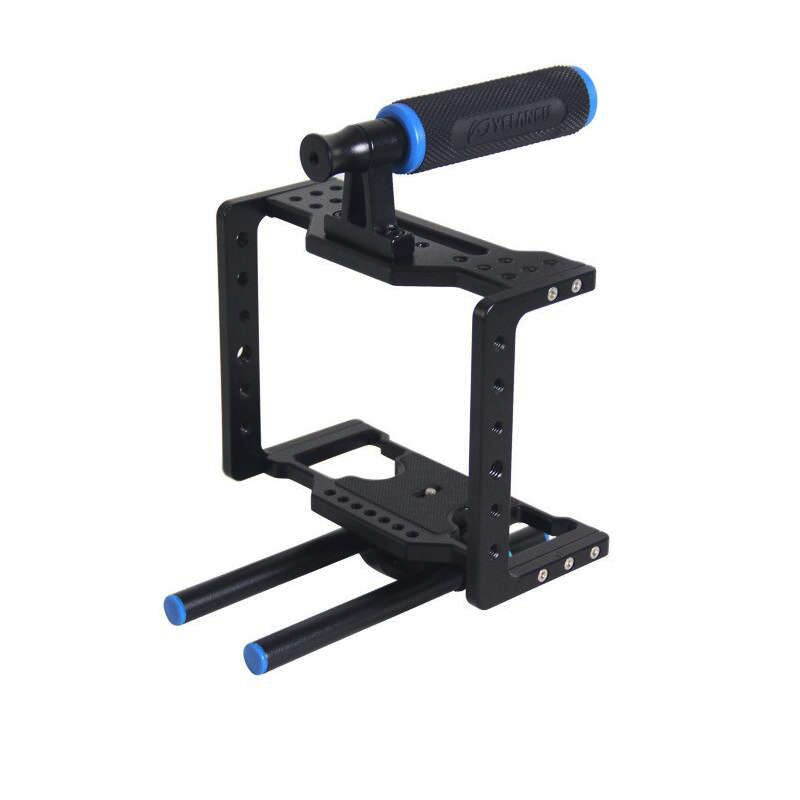 Aluminum Alloy Professional Handheld DSLR Camerea Cage Rig Photographic Camera Low Shot Equipment Top Hand Grip BMCC Camera Cage