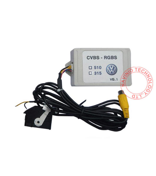 RGB RNS315 RNS 510 RCD 510 box CVBS to RGB and AV to RGB Converter Adapter For VW Passat CC Tiguan OEM flip Rear View Camera