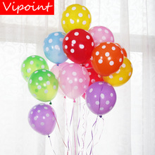 VIPOINT PARTY 100pcs 12inch green pink red dot latex balloons wedding event christmas halloween festival birthday party HY-352