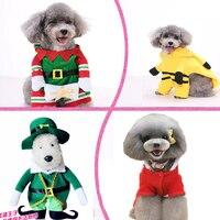 NUEVA Ropa Para Mascotas Ropa Para Perros de Navidad de Santa Claus Vestido de Traje de Invierno de Lana Capa Del Perro de Halloween Calabaza Equitación Convierte Asistente