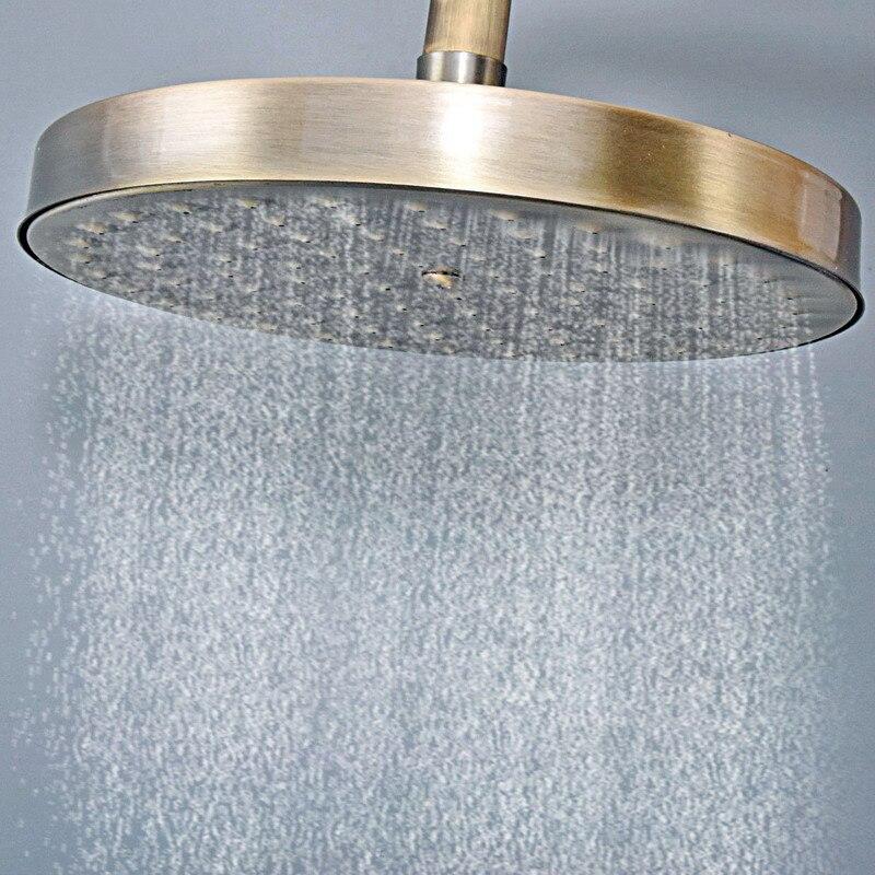 Ванная аксессуары 7,7% 22 дюйм антиквариат бронза вода экономия круглая форма верх дождь душ насадка ванная арматура ash255