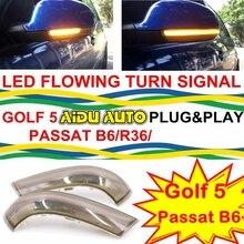 купить Dynamic Turn Signal LED Rearview Mirror Indicator Blinker Repeater Light USE For VW GOLF 5 Plus Jetta MK5 Passat B6 EOS дешево