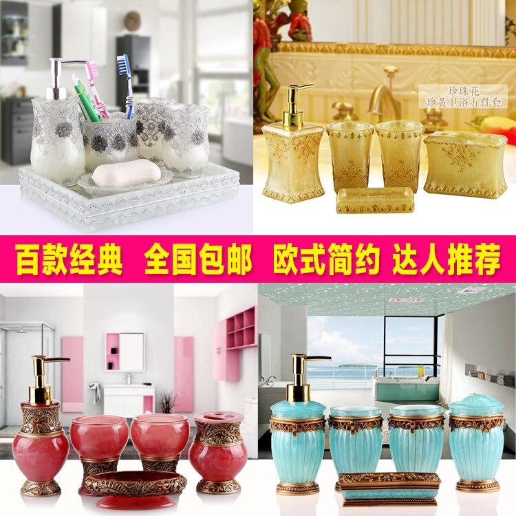 Five piece bathroom wash Wedding Suit bathroom suite style, shukoubei resin