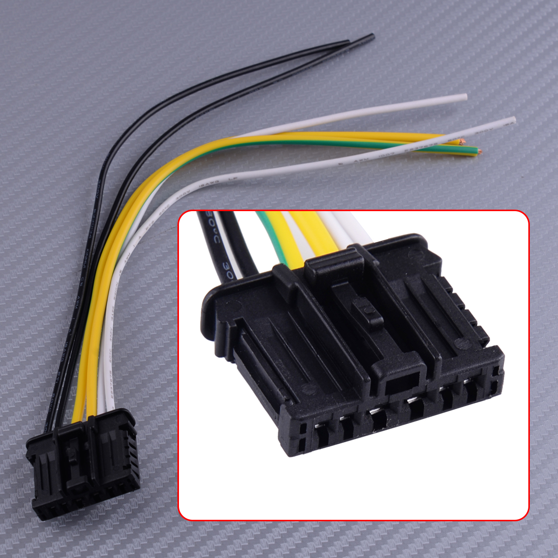 Rear Tail Light Loom Wiring Connector for Peugeot 206 207 307 308 Citroen C3 C4