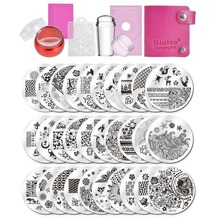 цена на 2017 Biutee Nail Stamping Plates Set Flower Animal Pattern Nail Art Stamper & Scraper Template Image Plate Stencil Nails Tool