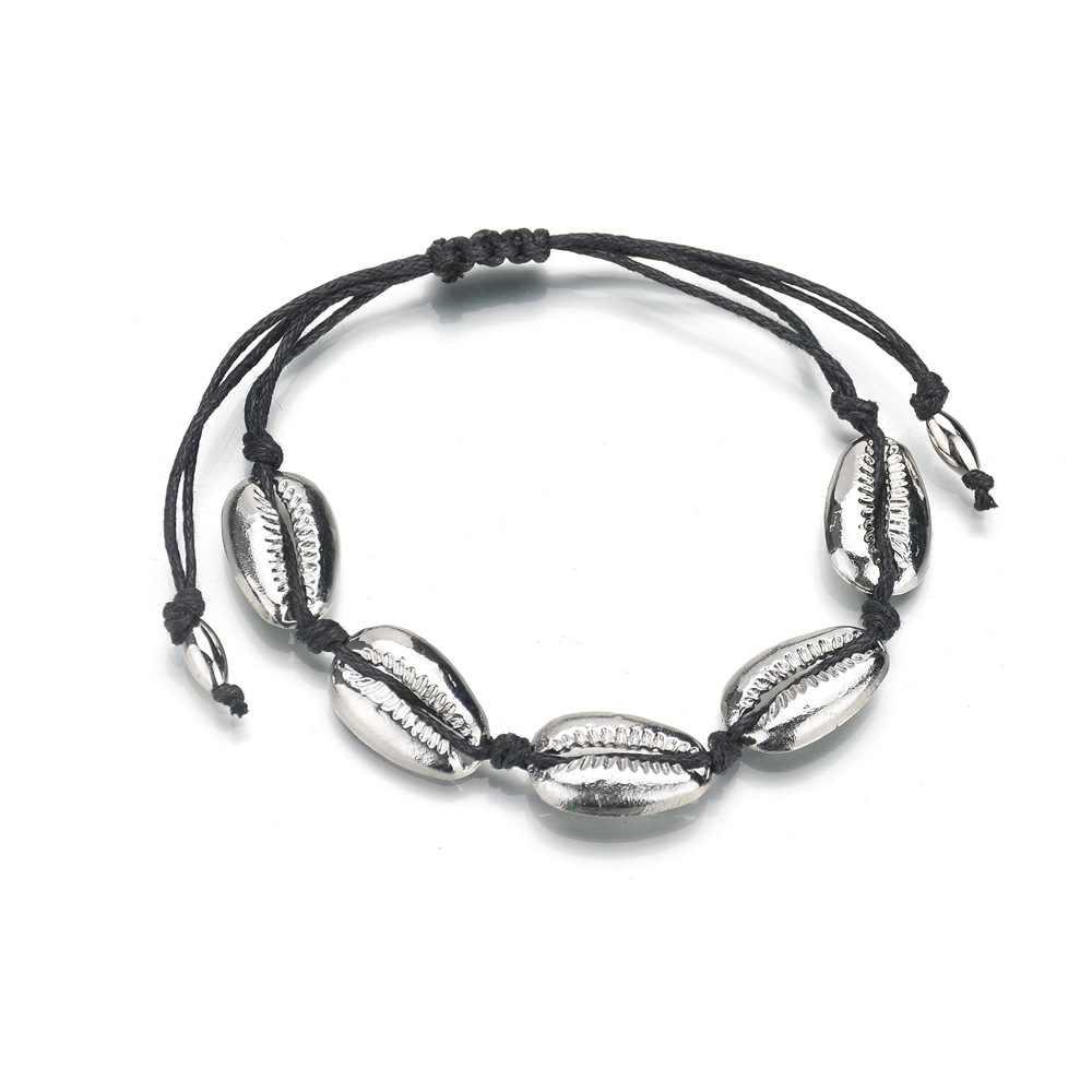 Богемный ручной работы сплав женский браслет для Для женщин цвета: золотистый, Серебристый сплав Shell браслет Браслеты Mujer Moda 2018 2019 ювелирные изделия