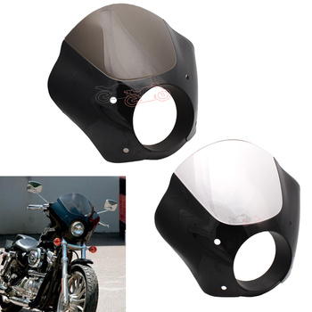 Motorcycle Black Quarter Fairing Kit Front ABS Plastic Windshield Windscreen Wind Deflector Protector for Harley 1988-later XL