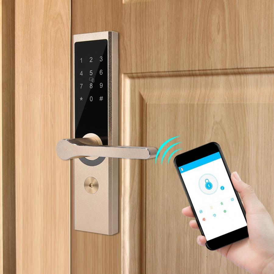 A4 App WiFi BT chiffrage à distance Smart porte serrure de sécurité électronique porte serrure numérique Code clavier pêne dormant pour maison hôtel appartement