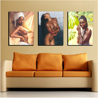 Naked Black Woman Diy Diamond Painting Embroidery Rhinestones 3D Mosaic Picture Cross Stitch Pattern Home Decoration