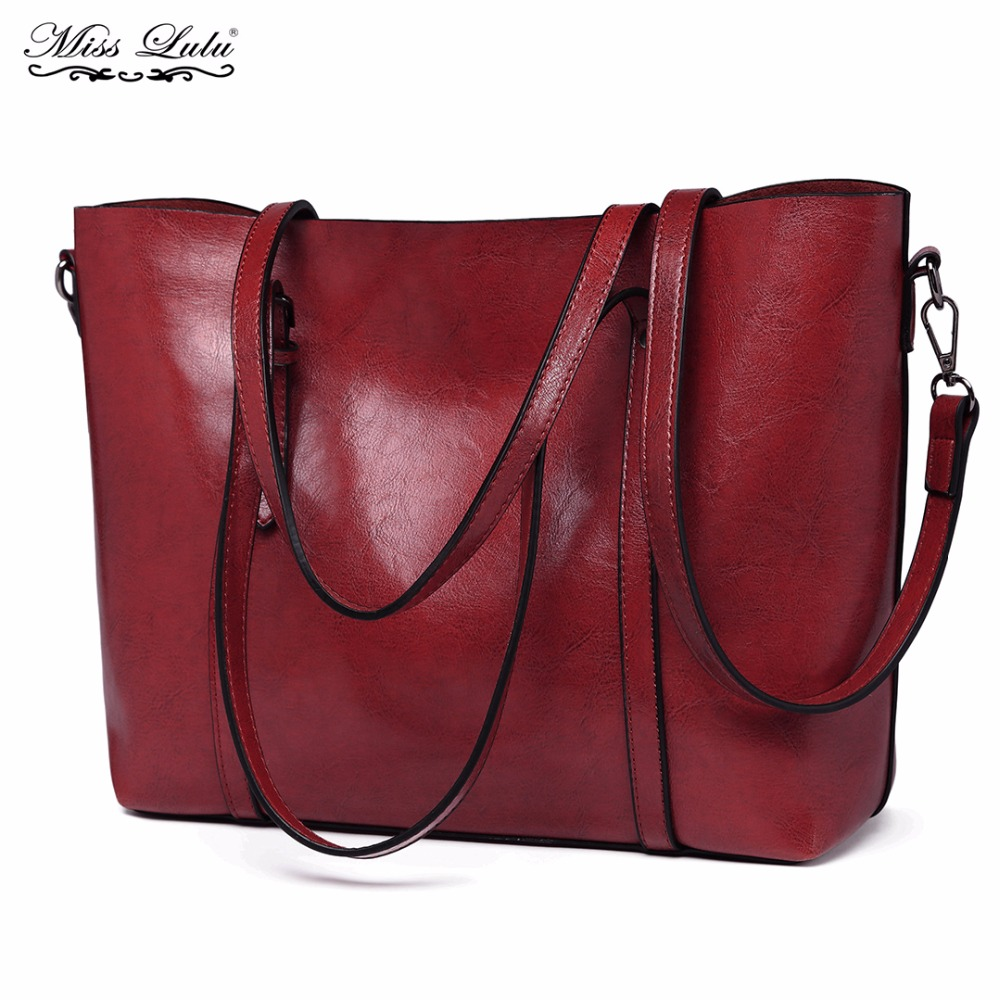 3b1d6f3d80 Buy 1 Get 1 at 50% Off Miss Lulu Women Designer Handbags Female Famous  Fashion Cross Body Shoulder Bags PU Leather Tote E6709-in Top-Handle Bags  from ...