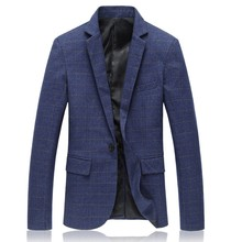 In the autumn of 2016 the new Men's jackets Fashion, cultivate one's morality grid small suit big yards M-6XL