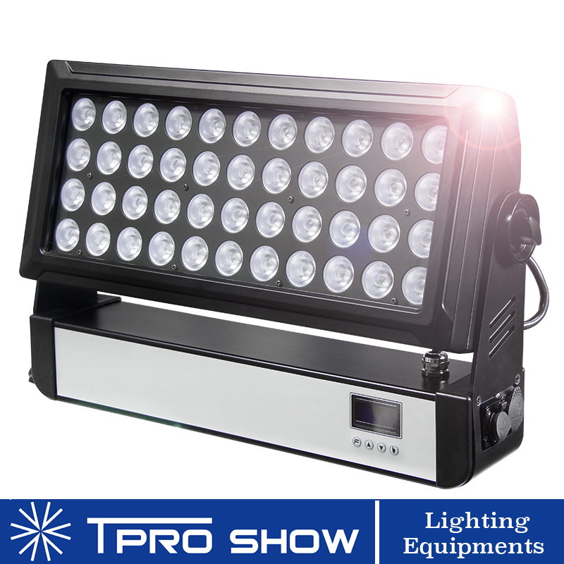44x10W LED Wash RGBW Flood Light Waterproof Project Lighting Dimming Strobe Dmx Stage Light for DJ Event Theater Landscape Wall