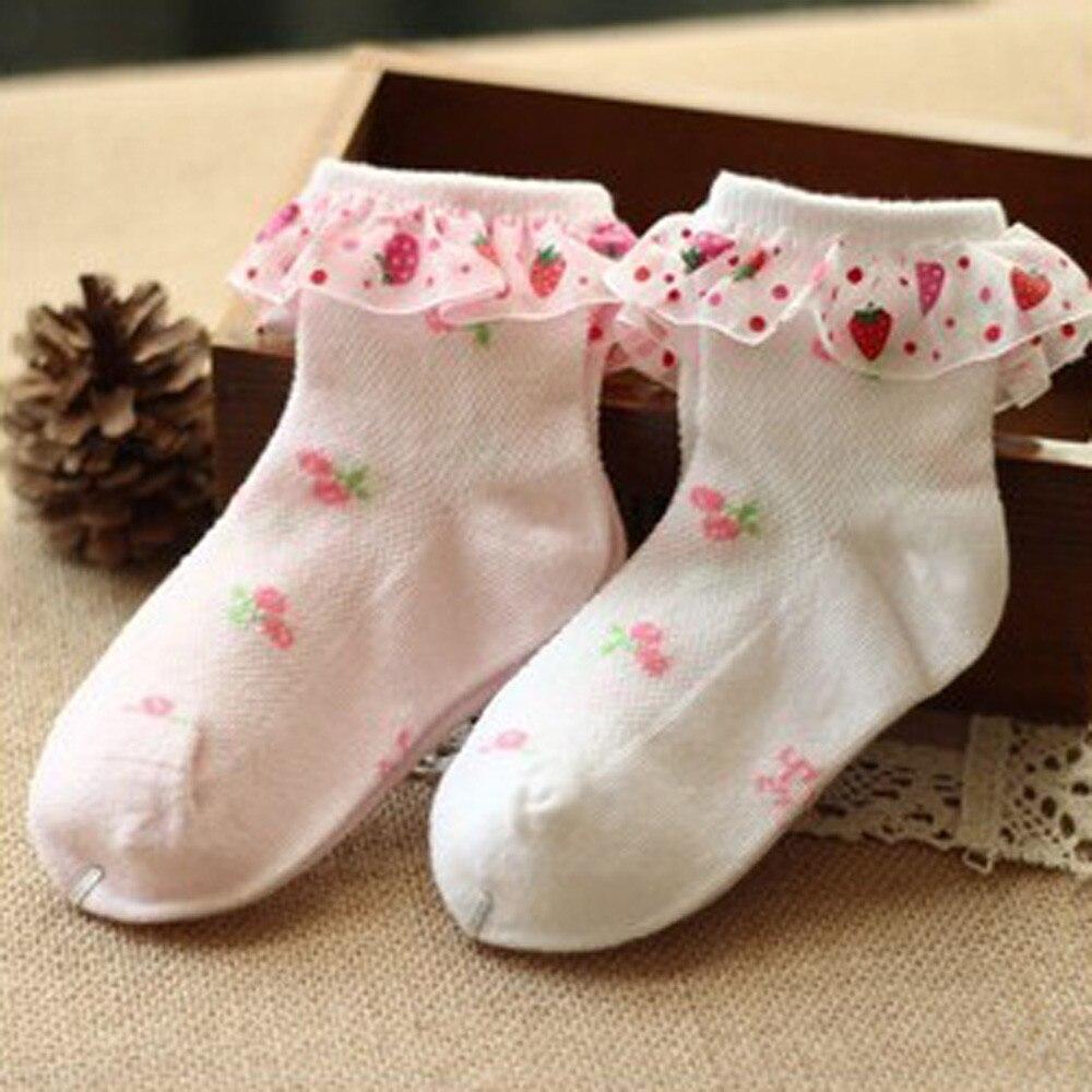 FäHig 2 Paar Kinder Kinder Mädchen Elastizität Gekämmte Baumwolle Knöchel Druck Spitze Socken StäRkung Von Sehnen Und Knochen