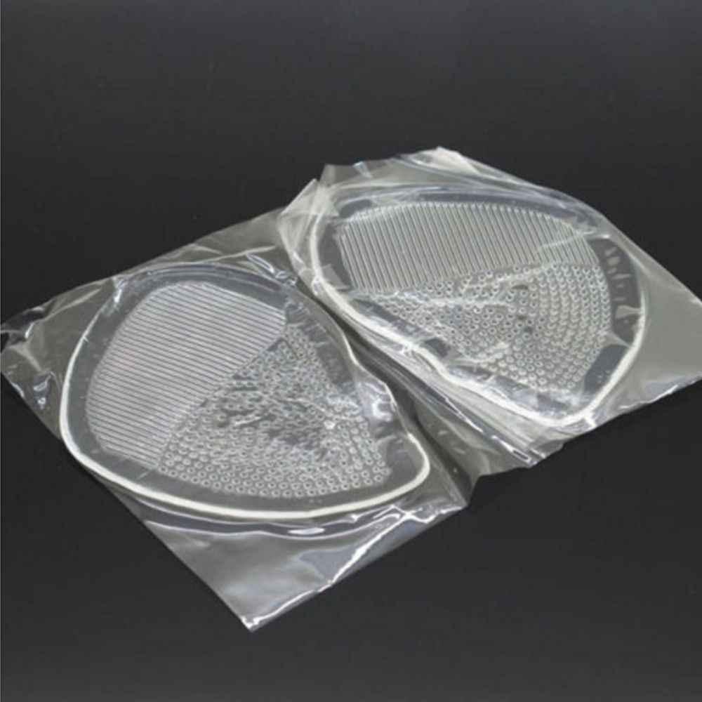 1 par de almohadillas de Gel antepié silicona para zapatos, plantillas de tacón alto, almohadillas elásticas de silicona para arco ortopédico, almohadillas antideslizantes