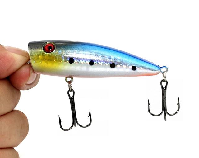 HENGJIA 6pcs/lot Big Popper Fishing Lure Artificial Bait