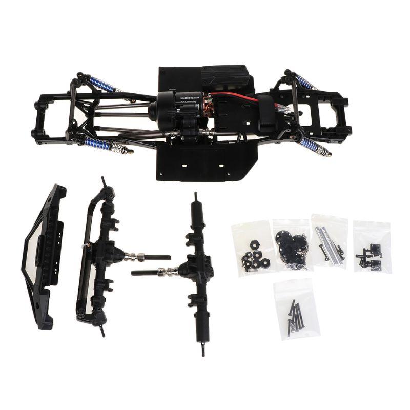 Nouveau 313mm 12.3 pouces empattement assemblé châssis pour 1/10 RC voiture sur chenilles SCX10 SCX10 II 90046 90047