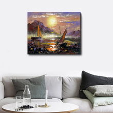 цены на Laeacco Canvas Watercolor Abstract Sunrise Posters and Prints Wall Art Painting Living Room Home Decoration Pictures  в интернет-магазинах