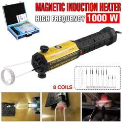 Aquecedor de indução 110 v/220 v 8 bobinas parafuso removedor de calor kit ferramenta sem chama aquecedor indução magnética desmontagem do carro reparação ferramenta